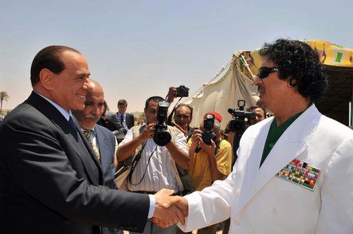 Moammar Gadhafi , Silvio Berlusconi