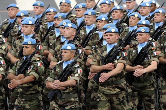 Peacekeepers from the United Nations Interim Force in Lebanon