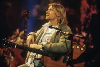 Kurt Cobain durante l'Unplugged in New York per MTV del 11/01/1993.