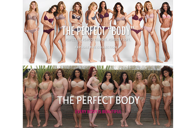 """Pubblicità di Victoria's Secret e risposta del brand Curvy Kate. """"Ogni corpo è perfetto"""""""