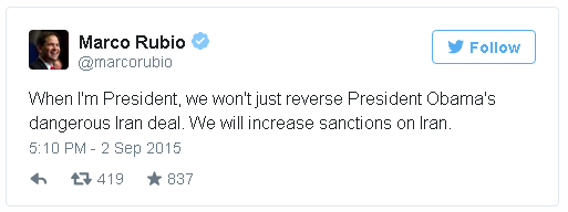 Rubio about Iran Deal